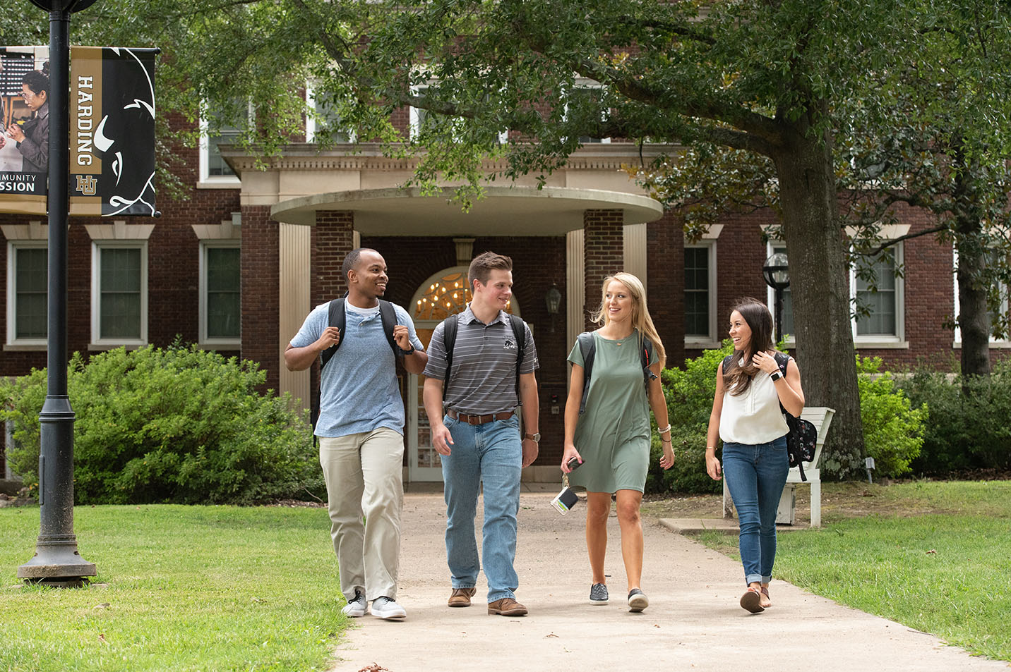This is a photo of students walking on campus.