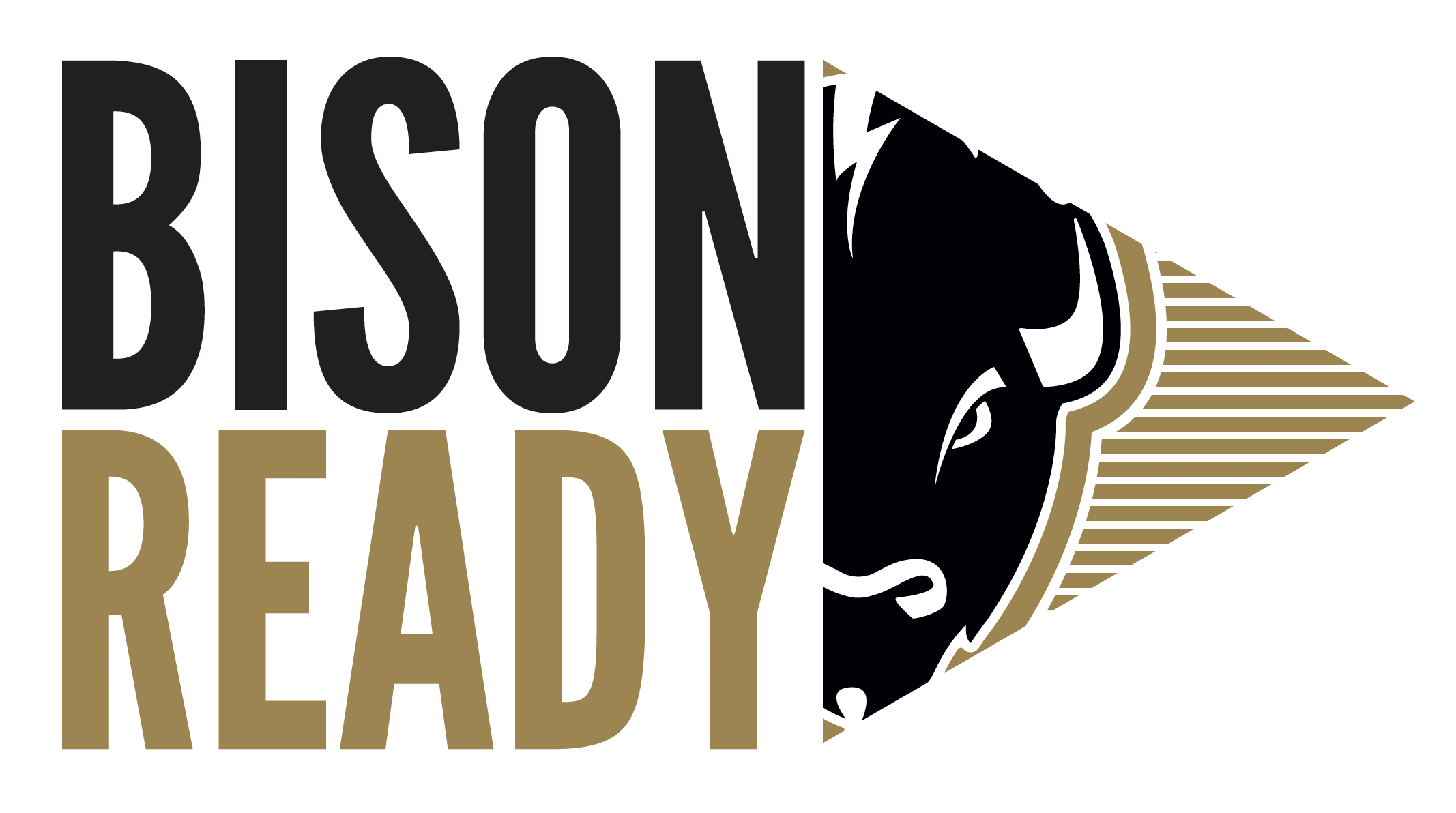 This is the logo for the Bison Ready program at Harding University.
