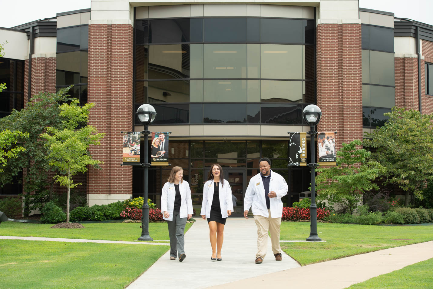 This is a photo of students in the graduate pharmacy program.