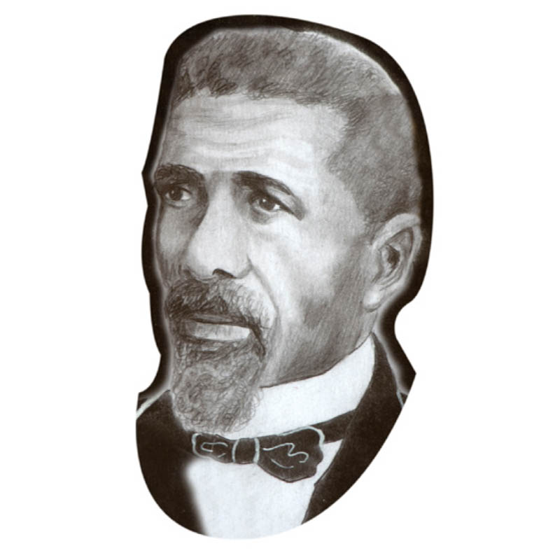 This is a photo of Samuel Cassius from the Every Voice painting.
