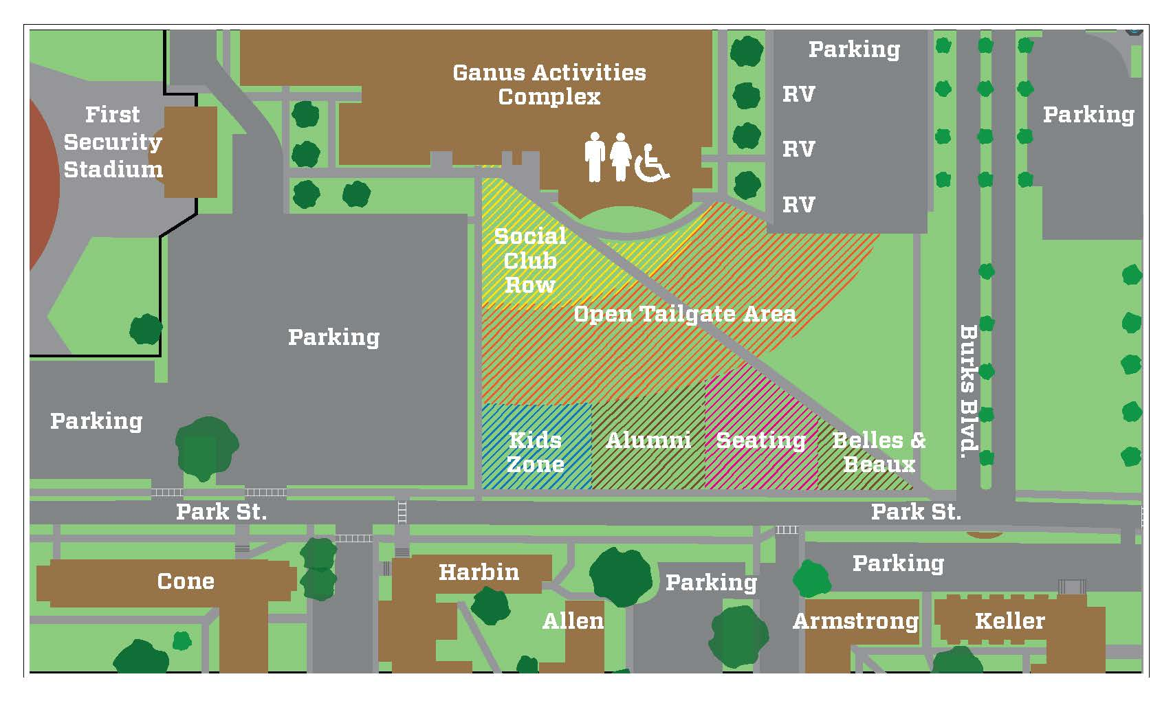 This is a map of the HU tailgate.